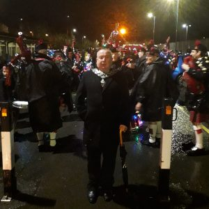 Photo of Town Mayor at the Caerphilly Lantern Parade