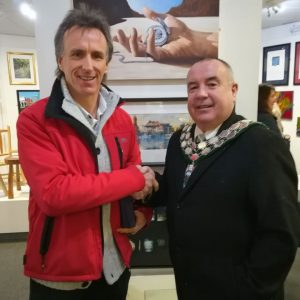 "Ian Mackenzie the Winner of the Open Art 2020 Lannion Award for ""Once Upon a Time in the West II""."